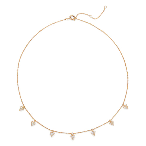 Triangle Pave Charm Necklace in Gold - Rocksbox