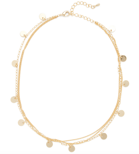 Layered Gold Disc Choker - Rocksbox