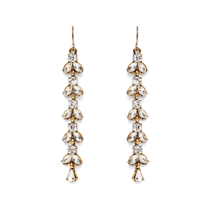 Calla Duster Earrings in Crystal