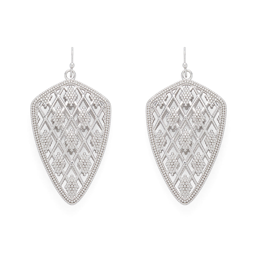 Chelsea Drop Earrings in Silver