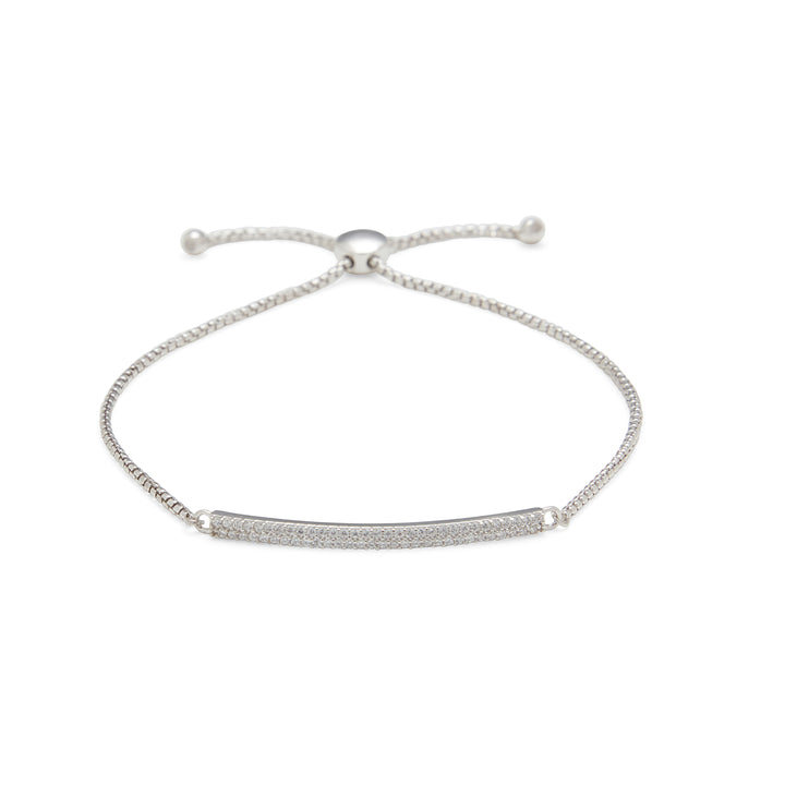 Double Row Micropave Bar Bracelet