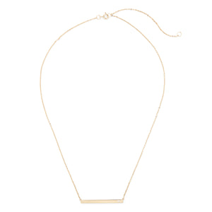 Bar Necklace with Pave Accent in Gold