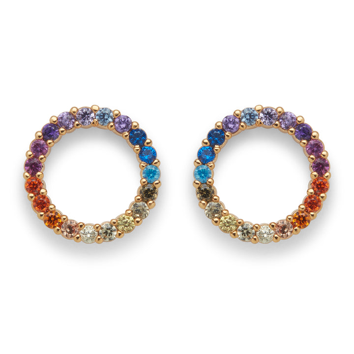 Mini Open Circle Rainbow Studs