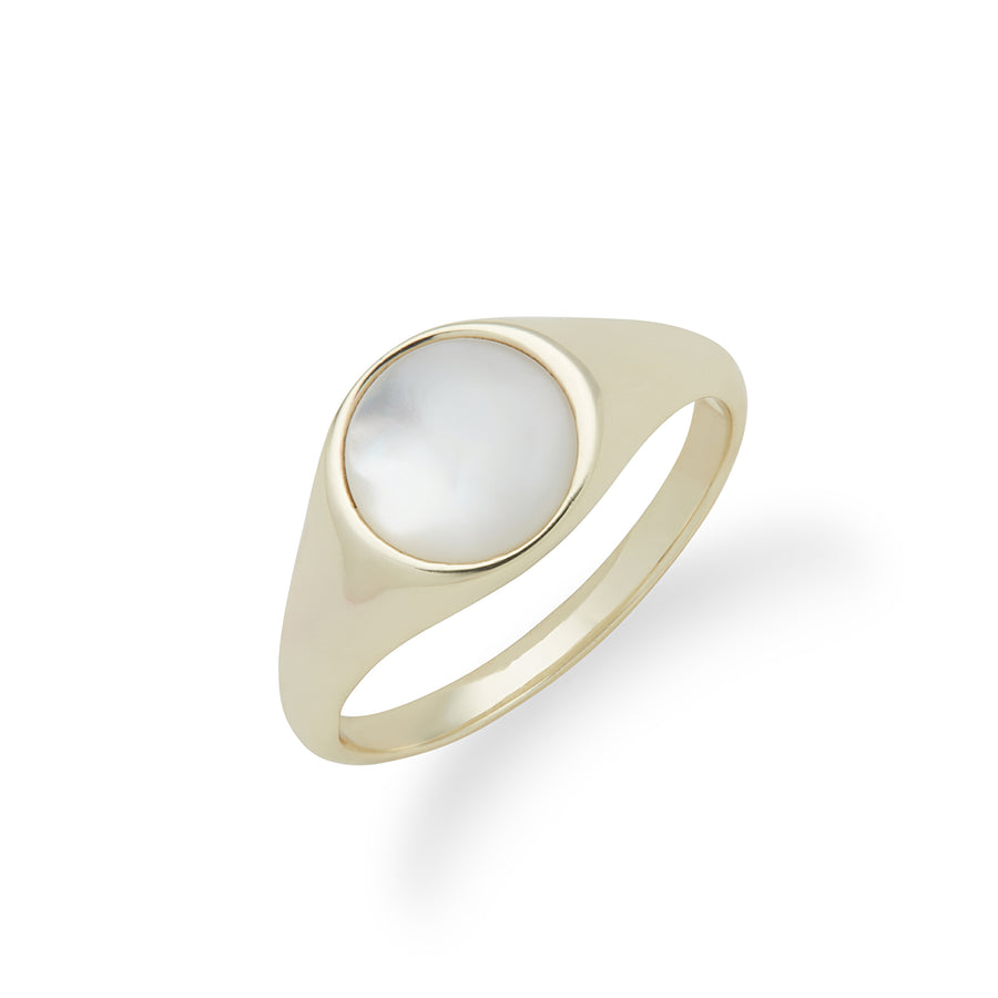 Ara Ring in Gold and Mother of Pearl