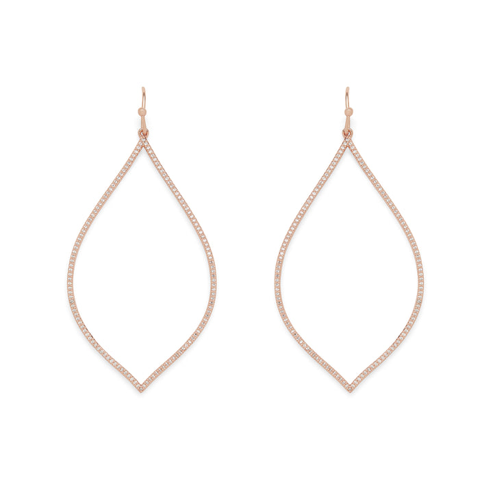 Spire Hoops in Rose Gold