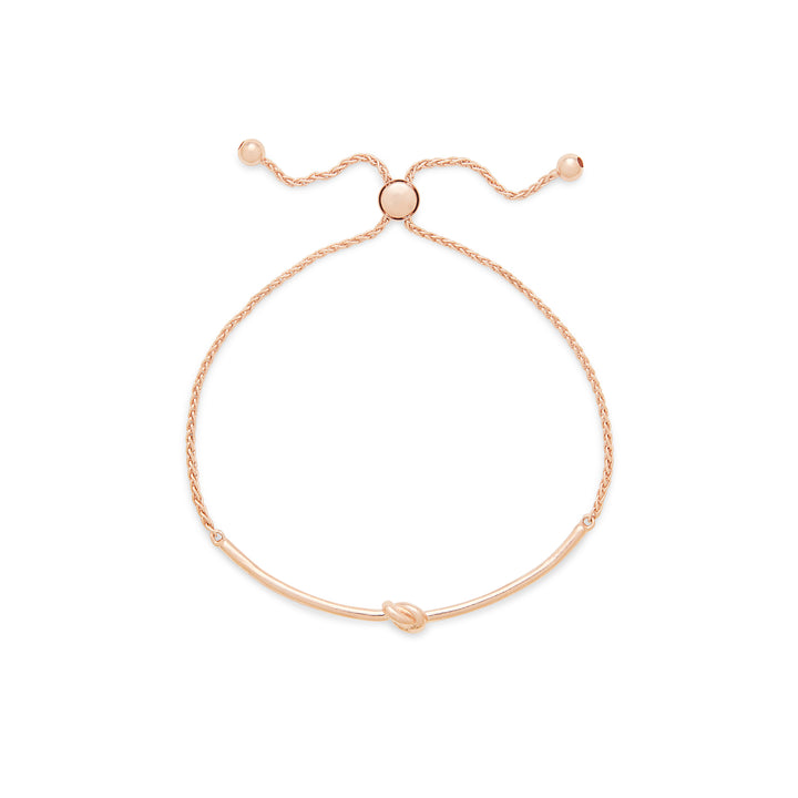 Knot Slider Bracelet in Rose Gold