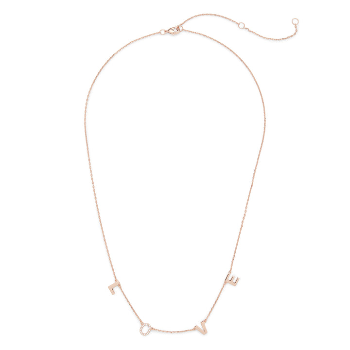 Love Necklace in Rose Gold