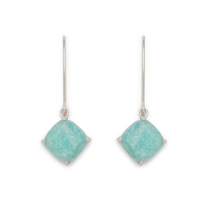 Berkeley Earrings in Silver and Amazonite