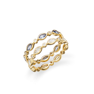 Cavallo Ring Set in Sapphire and Crystal