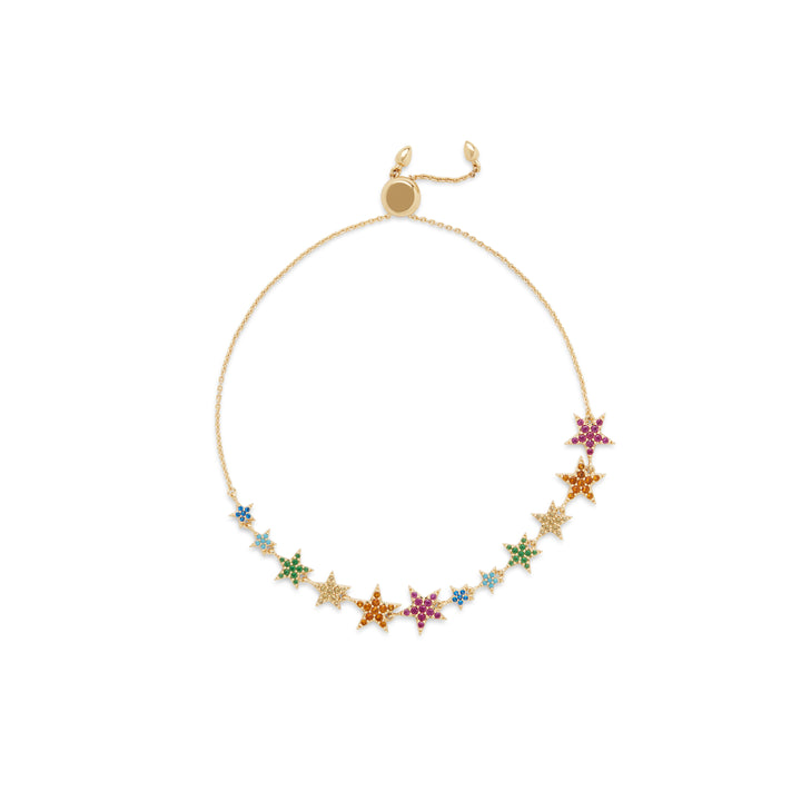 Rainbow Star Slider in Gold
