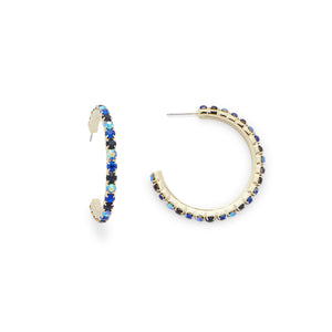 Emily Hoops in Blue Ombre