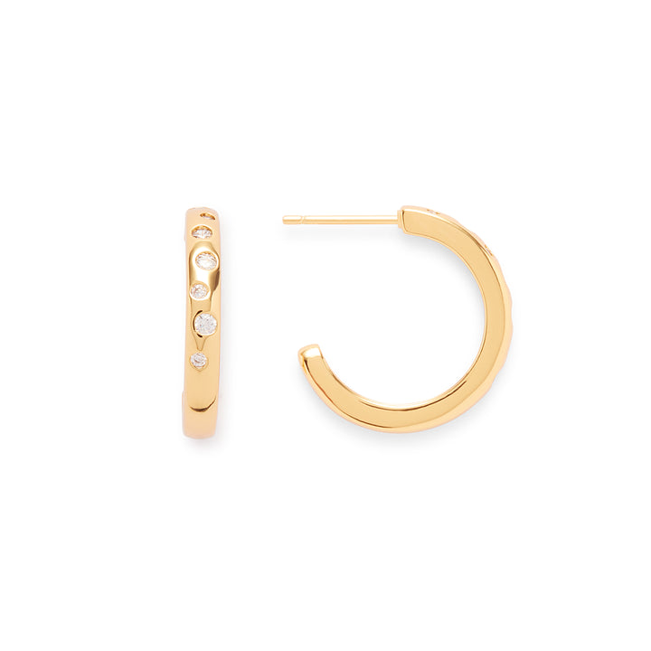 Alto Hoops in Gold