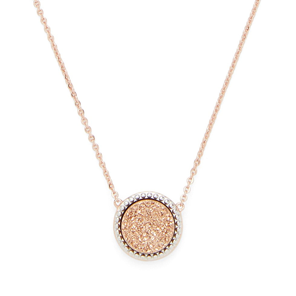 Cheyenne Necklace in Rose Gold and Rose Gold Druzy - Rocksbox