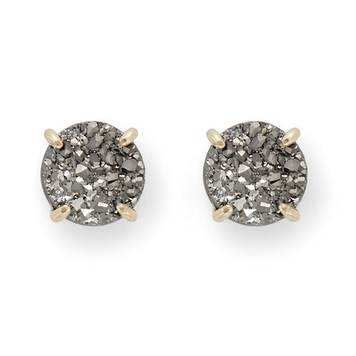 Charlotte Studs in Gold and Platinum Druzy