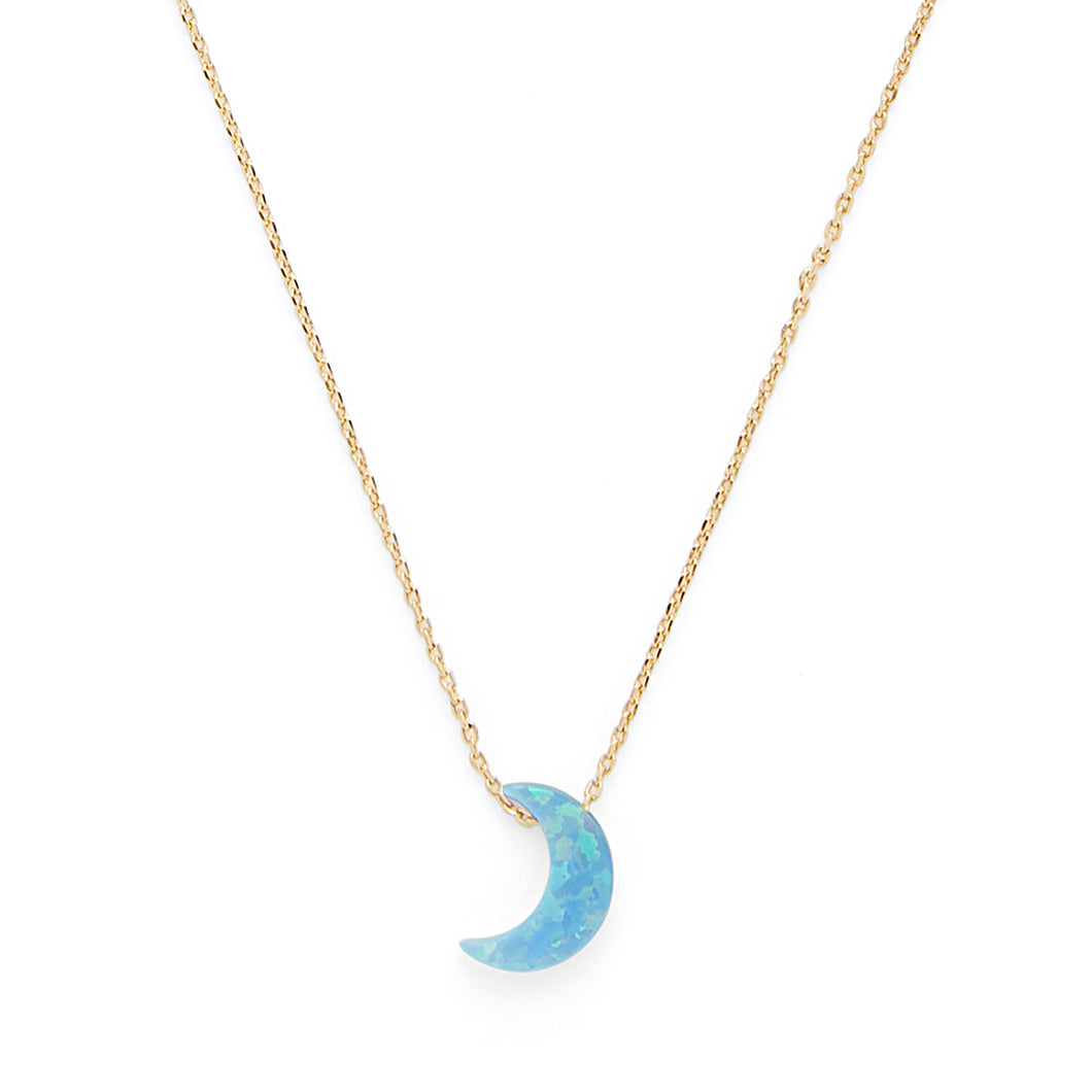 Opal Moon Necklace in Gold - Rocksbox