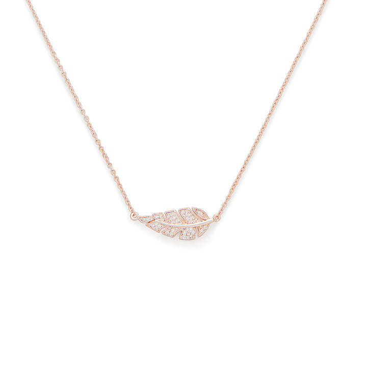 Pluma Short Pendant in Rose Gold