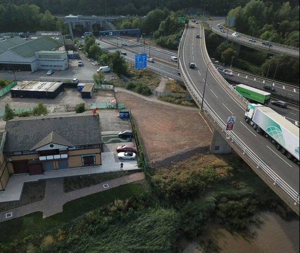 River Usk Aerial Photograph Albany Street Newport