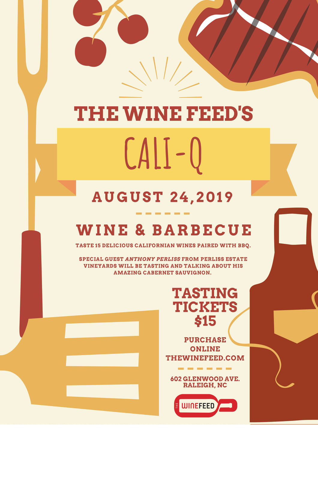 Cali-Q - Wine & Barbecue event