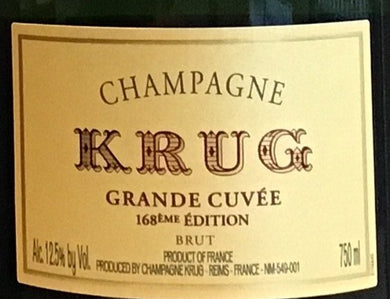 Krug 'Grande Cuvee' - Champagne 168th Edition