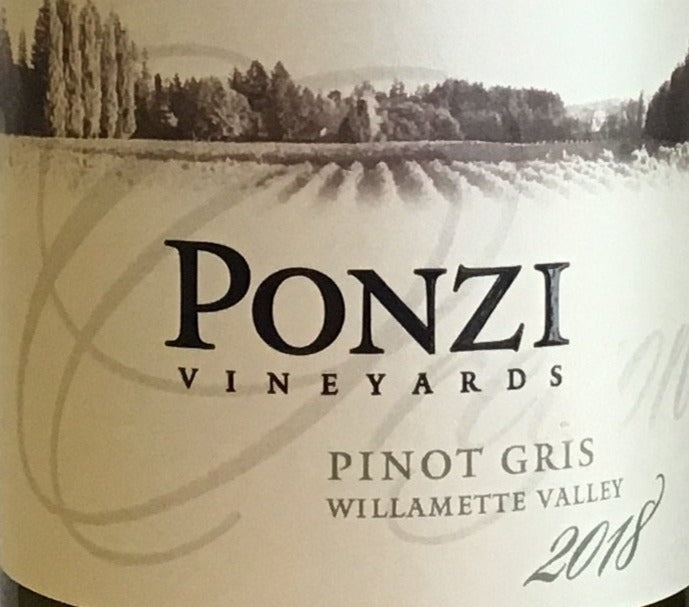 Ponzi Vineyards - Pinot Gris - Willamette Valley