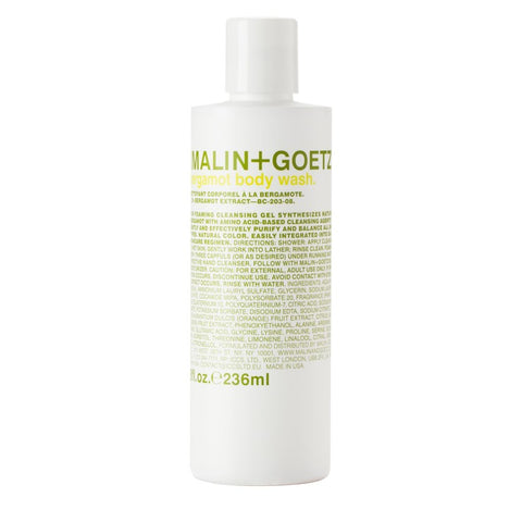 malin+goetz bergamot body wash.