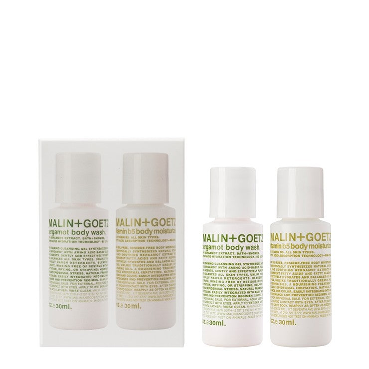 malin+goetz body essentials duo set.