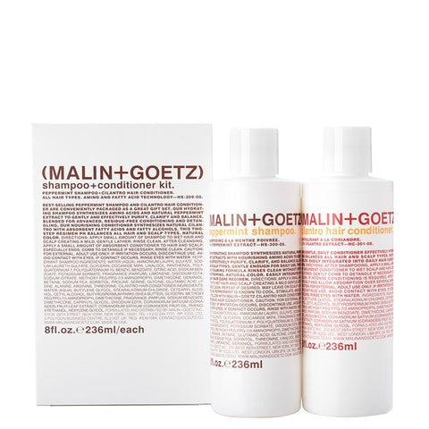 malin and goetz shampoo+conditioner kit