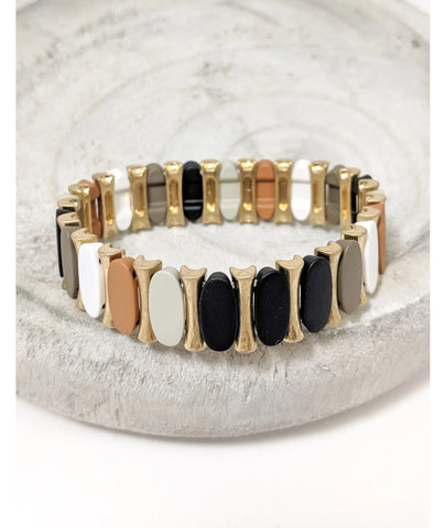 Neutral Color Stretch Bracelet