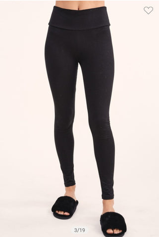 Solid Black Leggings (1XL-3XL)