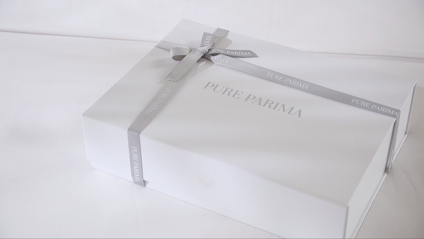 pure parima certified egyptian cotton packaging