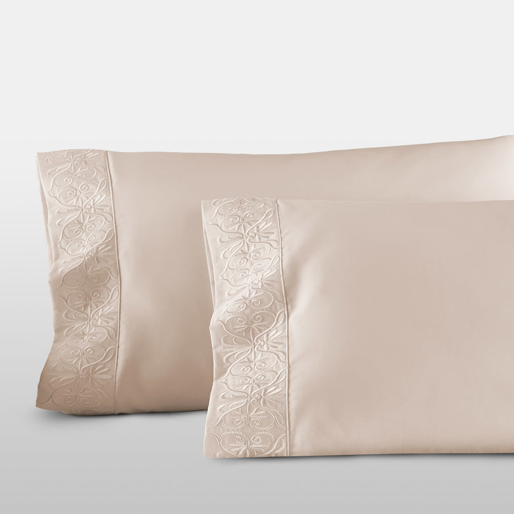 Egyptian Cotton sheets Ariane Sateen Pillowcase Set - by Pure Parima