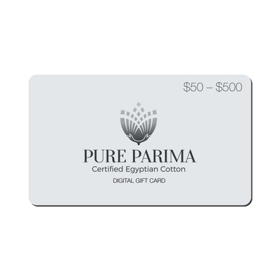 Egyptian Cotton sheets Gift Card - by Pure Parima