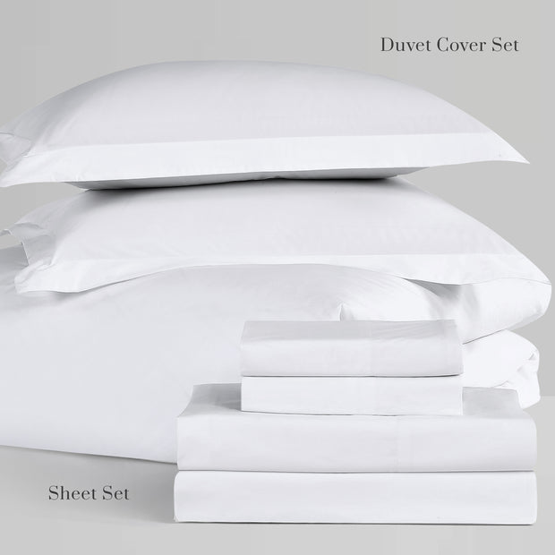 Hotel Collection Ultra Percale Sheet Set in White | 100% ELS Giza Egyptian Cotton