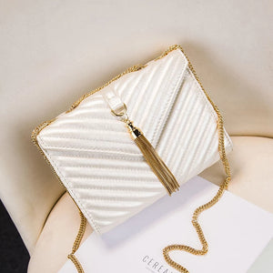 EVE 'TASSLE' FREE White Mini Bag | Jindigo Babe Melbourne