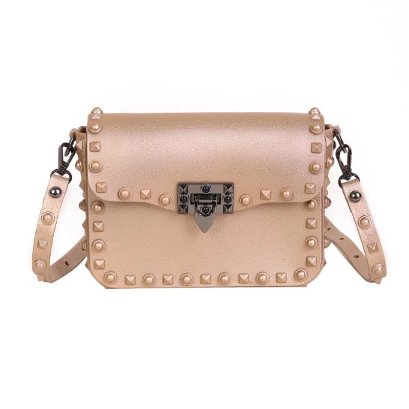 SO RIVETING - Nude Bag