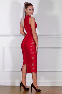 Back of MISHA– Red Dress