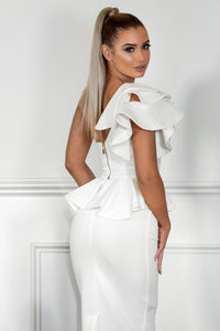 Back MYKAYLA | White Two-Piece Dress