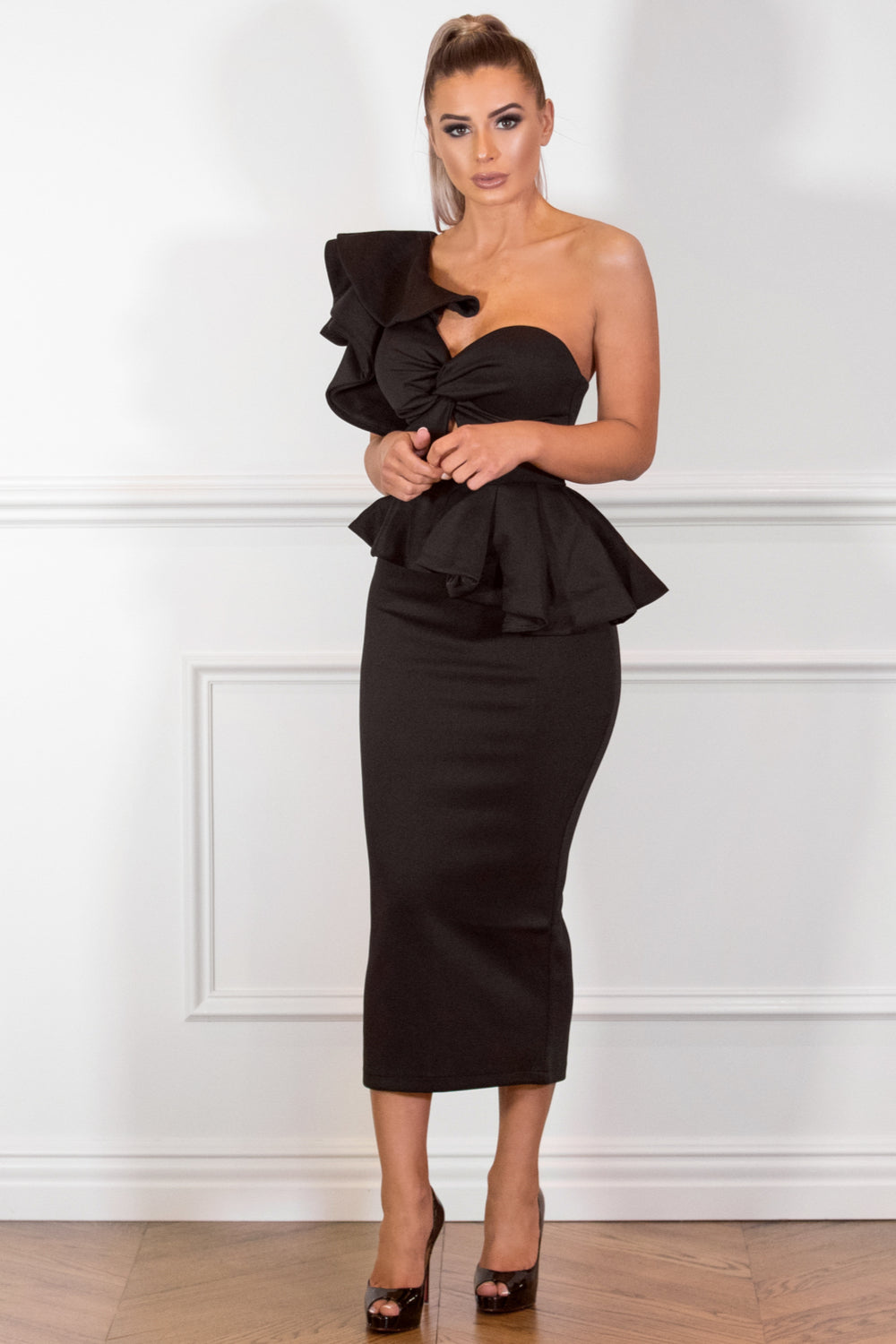 MYKAYLA  Black Two-Piece Dress