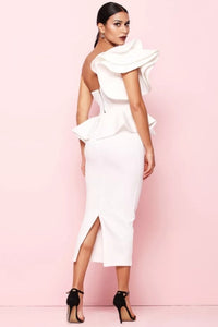 Back MYKAYLA  White Two-Piece Dress