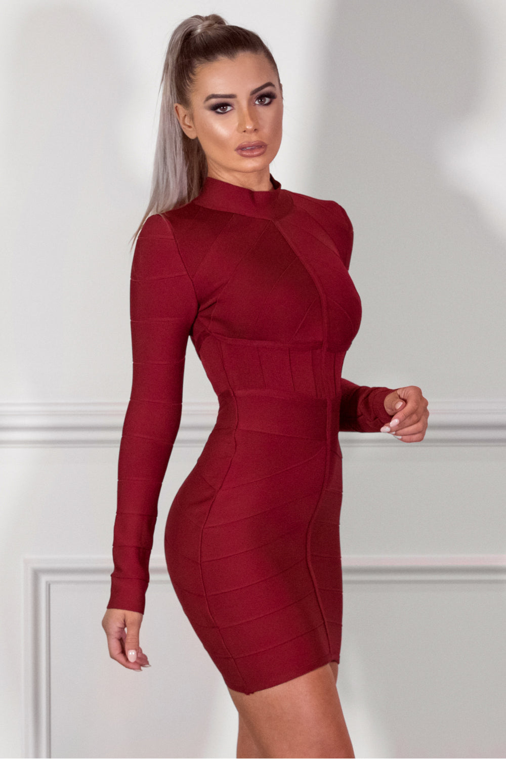 SASHA - BURGUNDY Dress