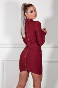 Back of SASHA - BURGUNDY Dress