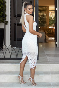Back of GABBY - White Lace Dress | Jindigo Babe Melbourne