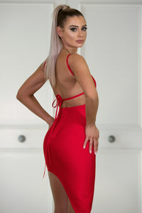 Back of AVA– Red Dress | Jindigo Babe Melbourne