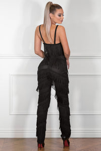 Back of EVA - BLACK Jumpsuit | Jindigo Babe Melbourne