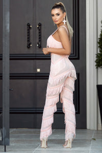 Back of EVA - Peach Jumpsuit | Jindigo Babe Melbourne