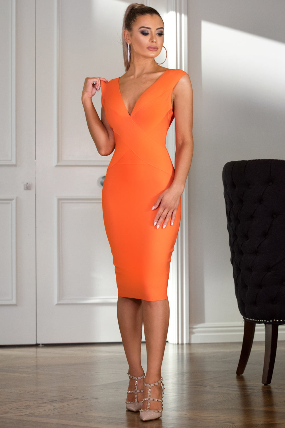 MANDY – Orange Dress | Jindigo Babe Melbourne