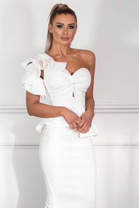 MYKAYLA | White Two-Piece Dress