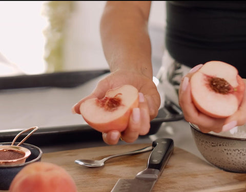 baked peaches healthy desserts