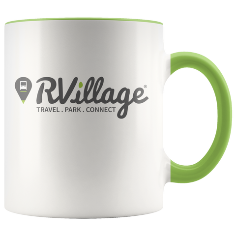 RVillage 11oz Accent Coffee Mug (Additional Colors Available)