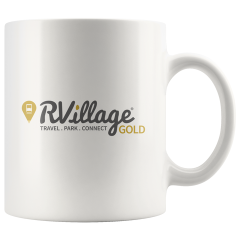 GOLD Level Member White Coffee Mug